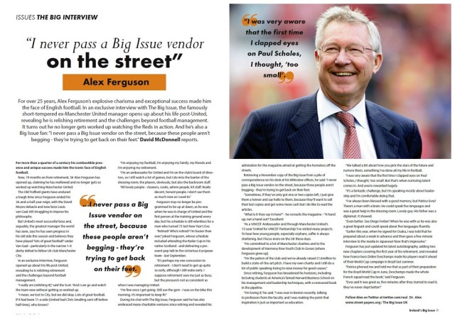 <br>Alex Ferguson in Irealand's Big Issue