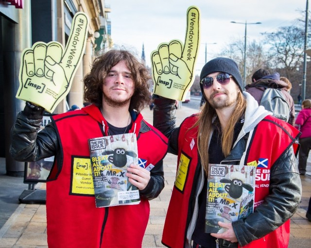 Dundee's The View sold copies of The Big Issue in Edinburgh for #VendorWeek<br>