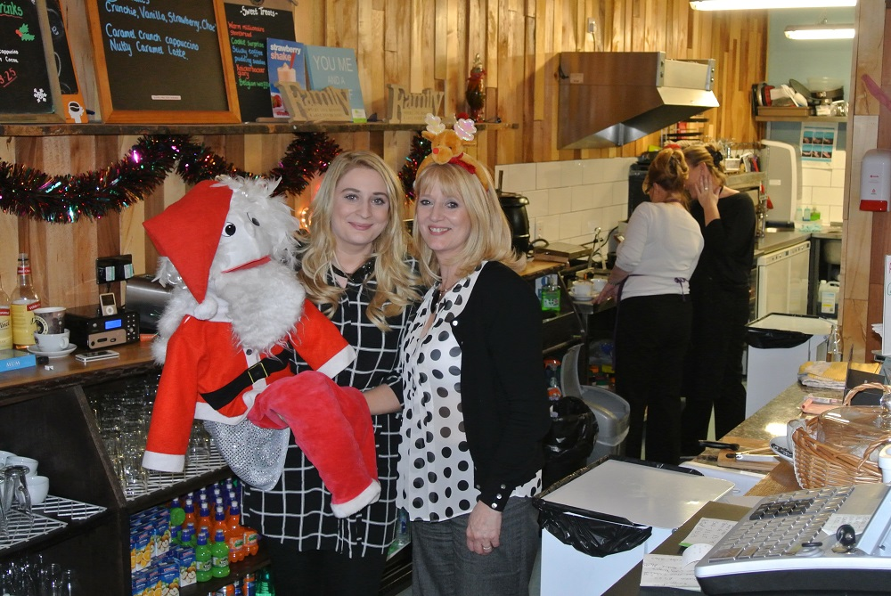 Gail with her daughter, who will also help out at the café on Christmas Day