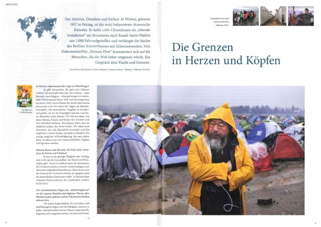 <br>The Big Issue (UK)'s interview with Ai Weiwei in Bodo (Germany)