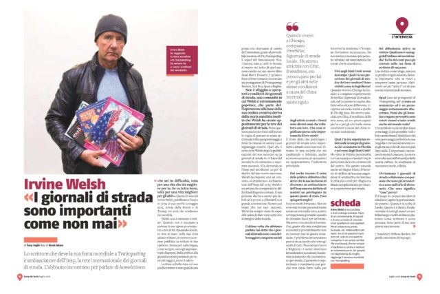 <br>INSP's exclusive interview with Irvine Welsh in Scarp de' tenis (Italy)