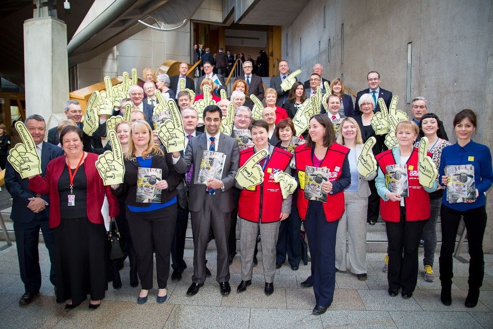 Team INSP with members of the Scottish Parliament during #VendorWeek