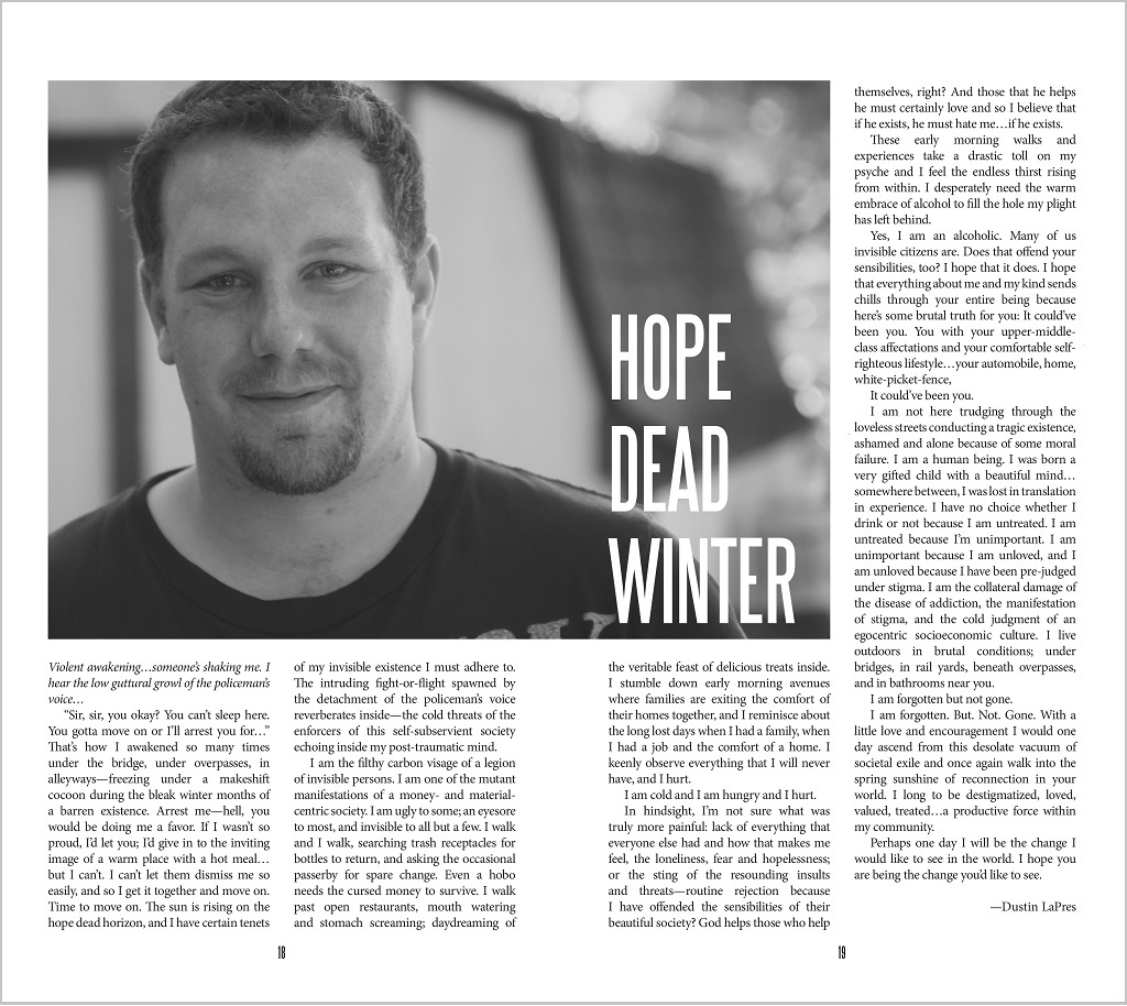 Hope Dead Winter as it featured in Speak Up