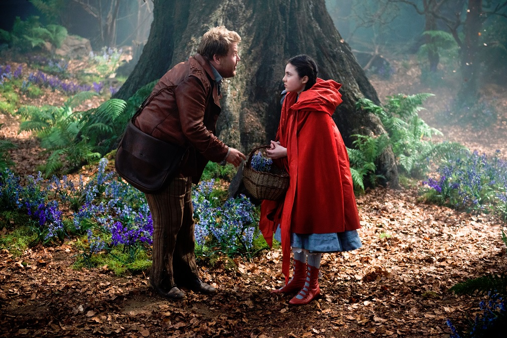 James Corden as The Baker and Lilla Crawford as Little Red Riding Hood