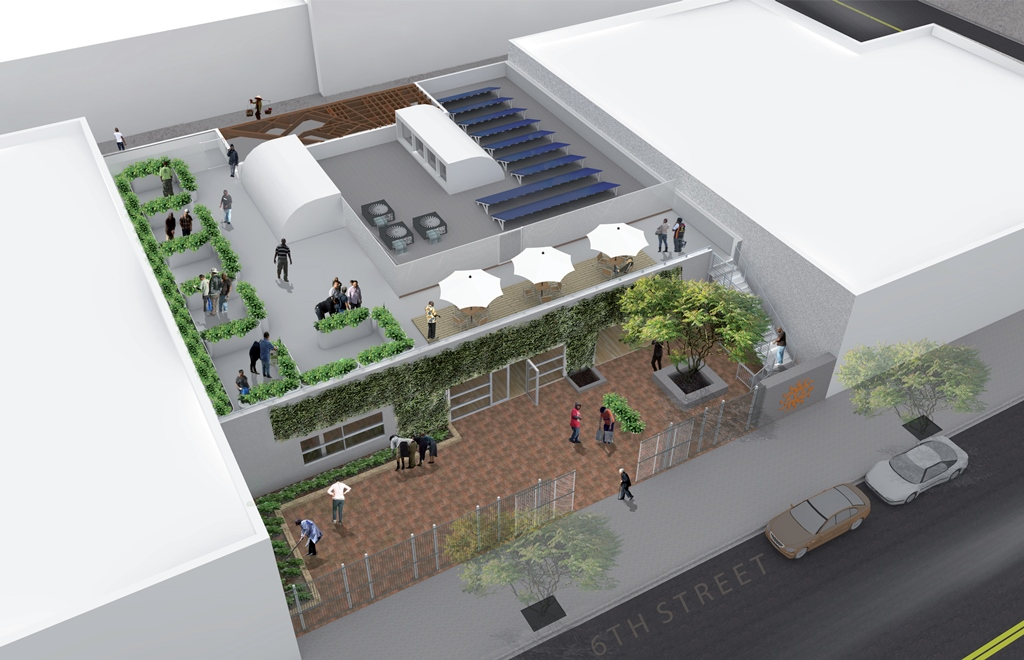 A visualisation of the new LA CAN centre