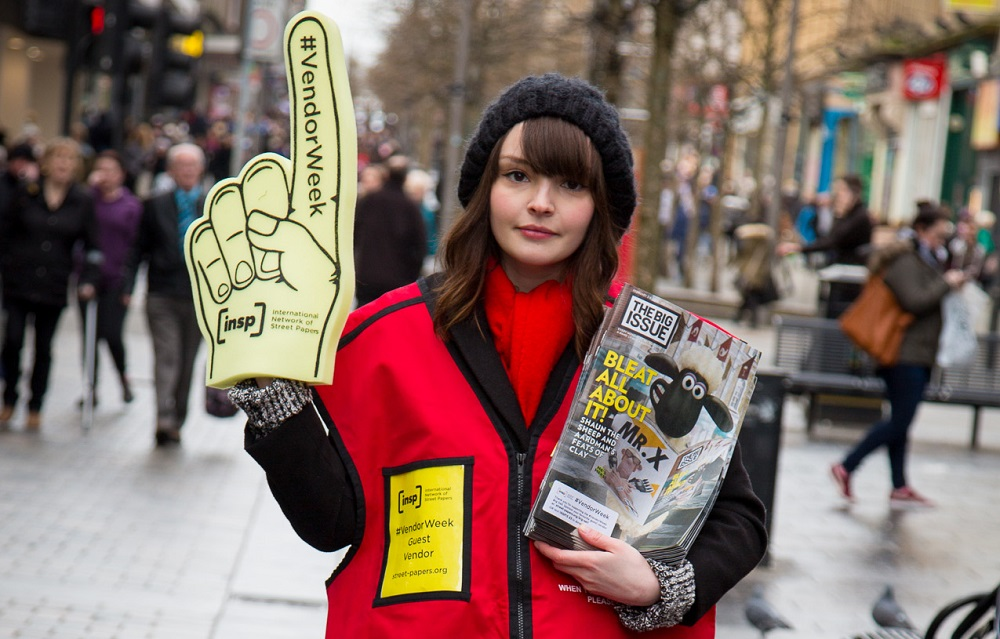 Lauren sells The Big Issue as part of #VendorWeek Photo: Euan Ramsay