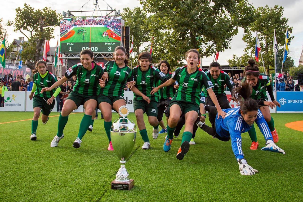 Mexico women win 2015 Homeless World Cup. Photo: Alex Walker