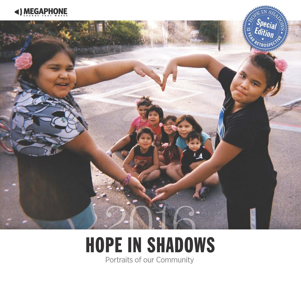 The 2016 Hope in Shadows calendar - cover photo by Jennifer Brown.