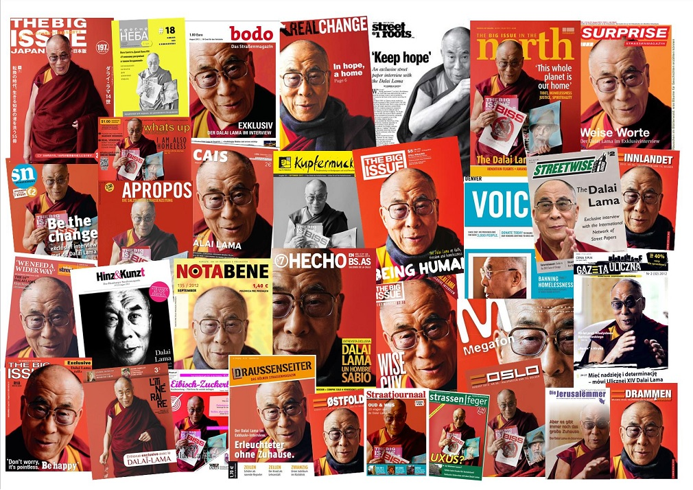 INSP's Dalai Lama interview on worldwide street paper covers
