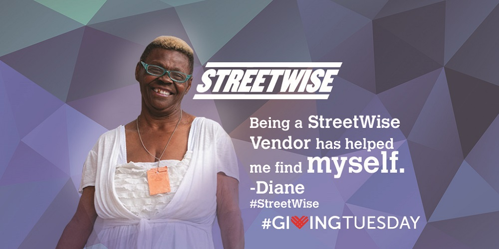Diane from StreetWise on #givingtuesday
