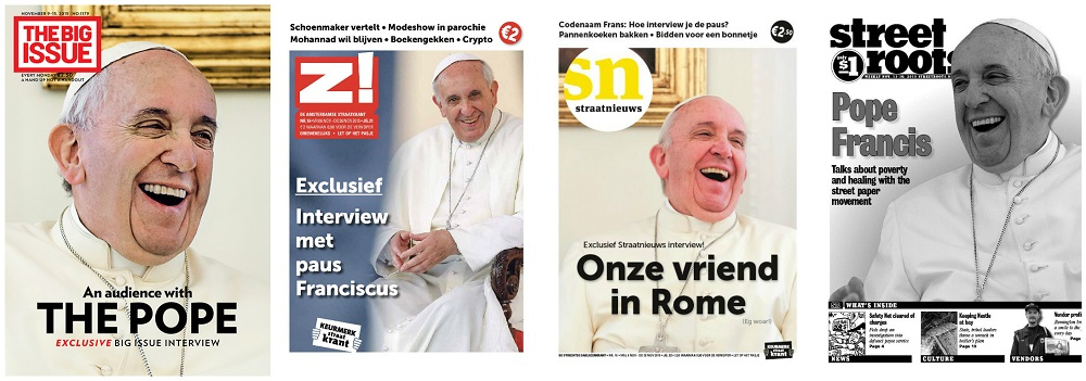 Pope Francis featured on covers of international street papers