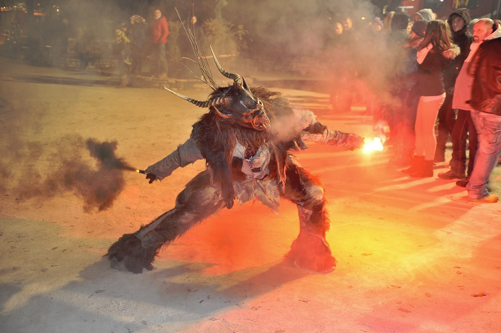 A Krampuslauf [Krampus run] in Pörtschach am Wörthersee, Austria