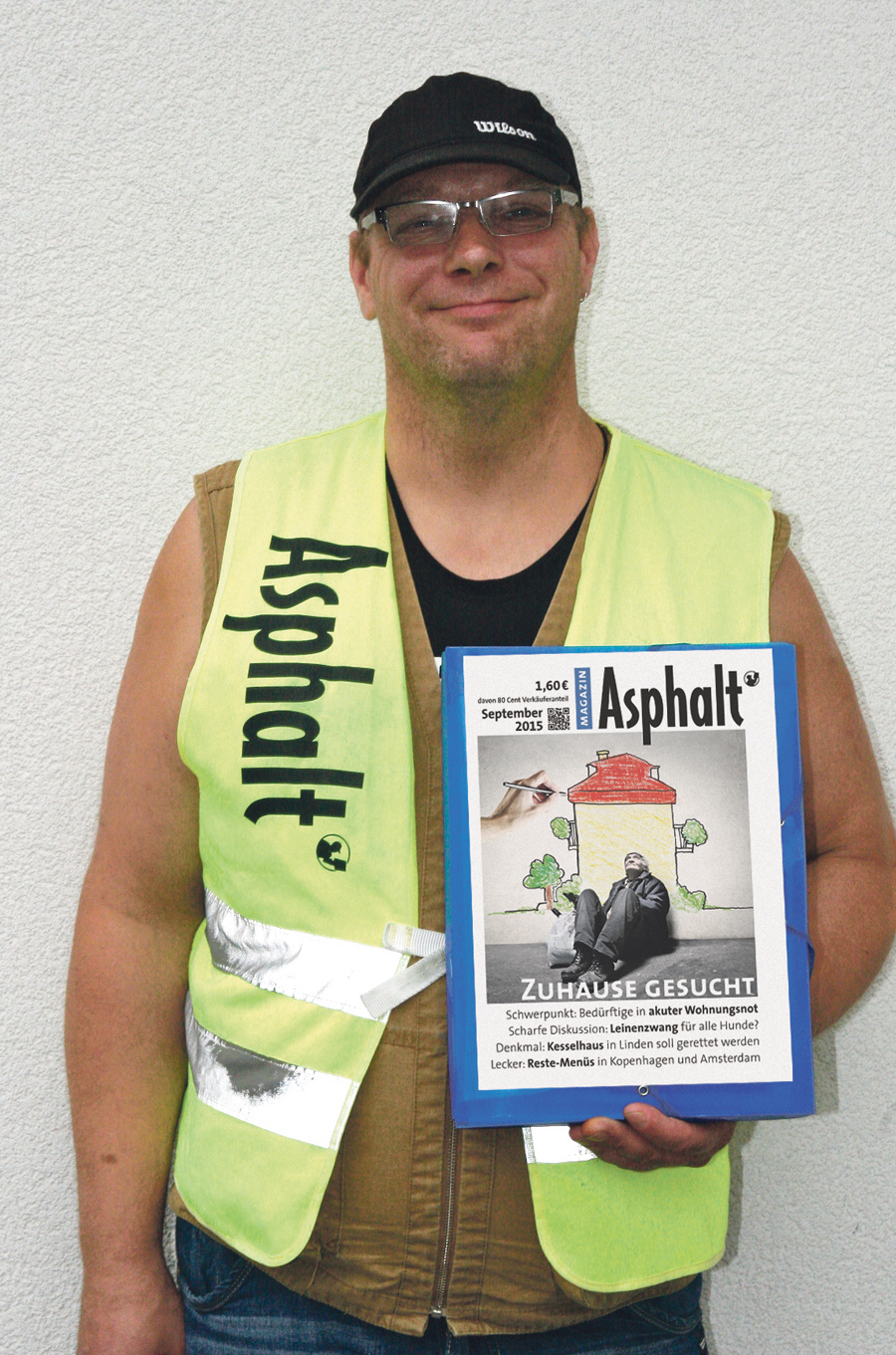 Mario selling Asphalt Photo: Karin Powser