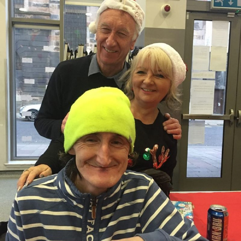 Service users at Glasgow City Mission were delighted with their new hats