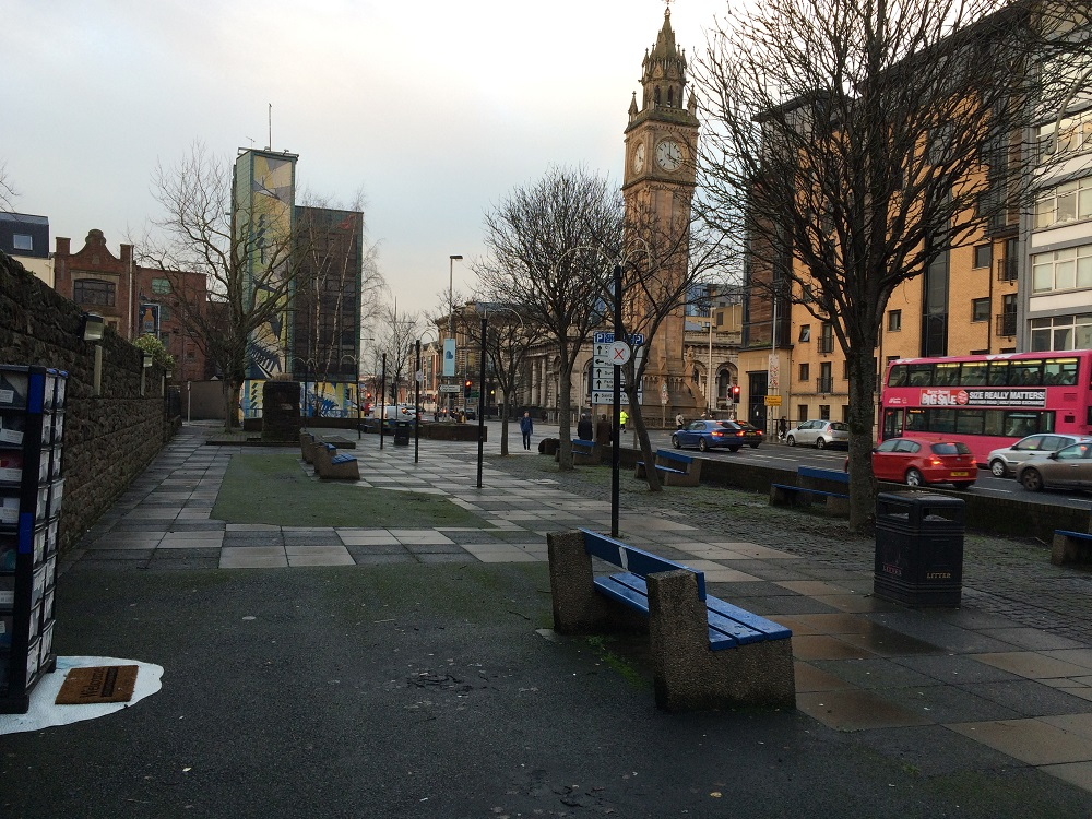 The Kindness Drawers are located near Belfast's Albert Memorial Clock. Photo: Sarah Kelly