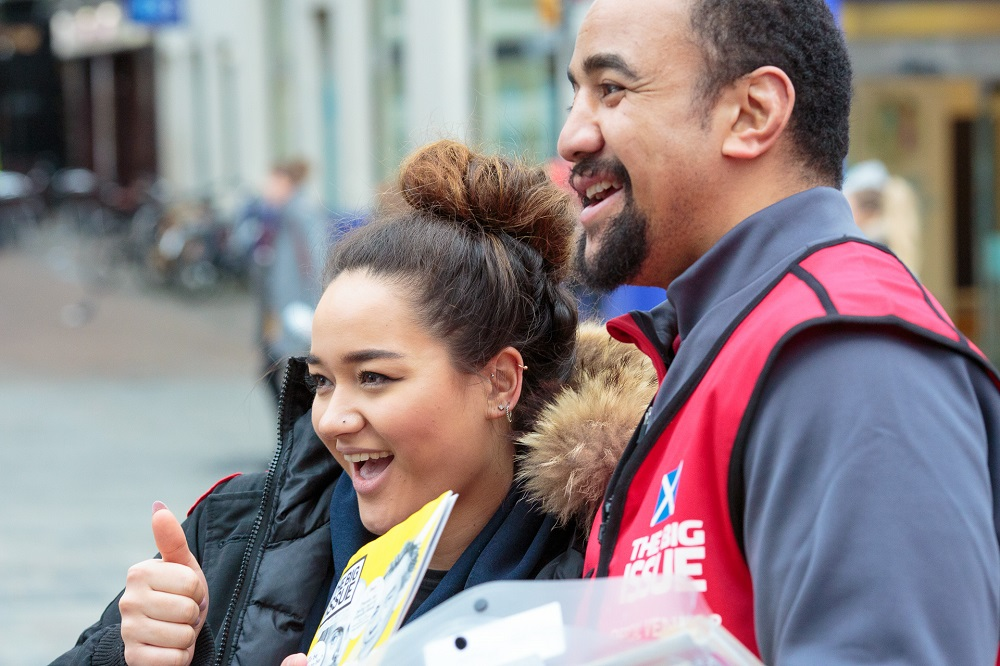 Nasi Manu meets a fan during #VendorWeek PHOTO: Euan Ramsay