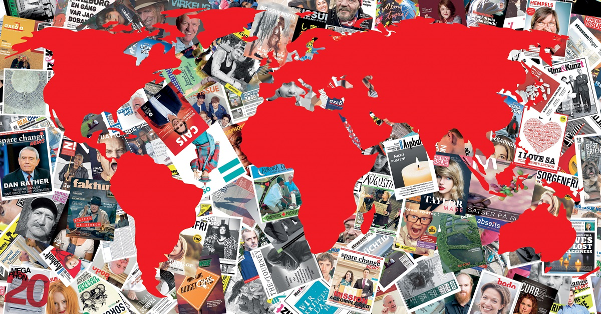 Street paper map created by INSP's Swiss member Surprise.