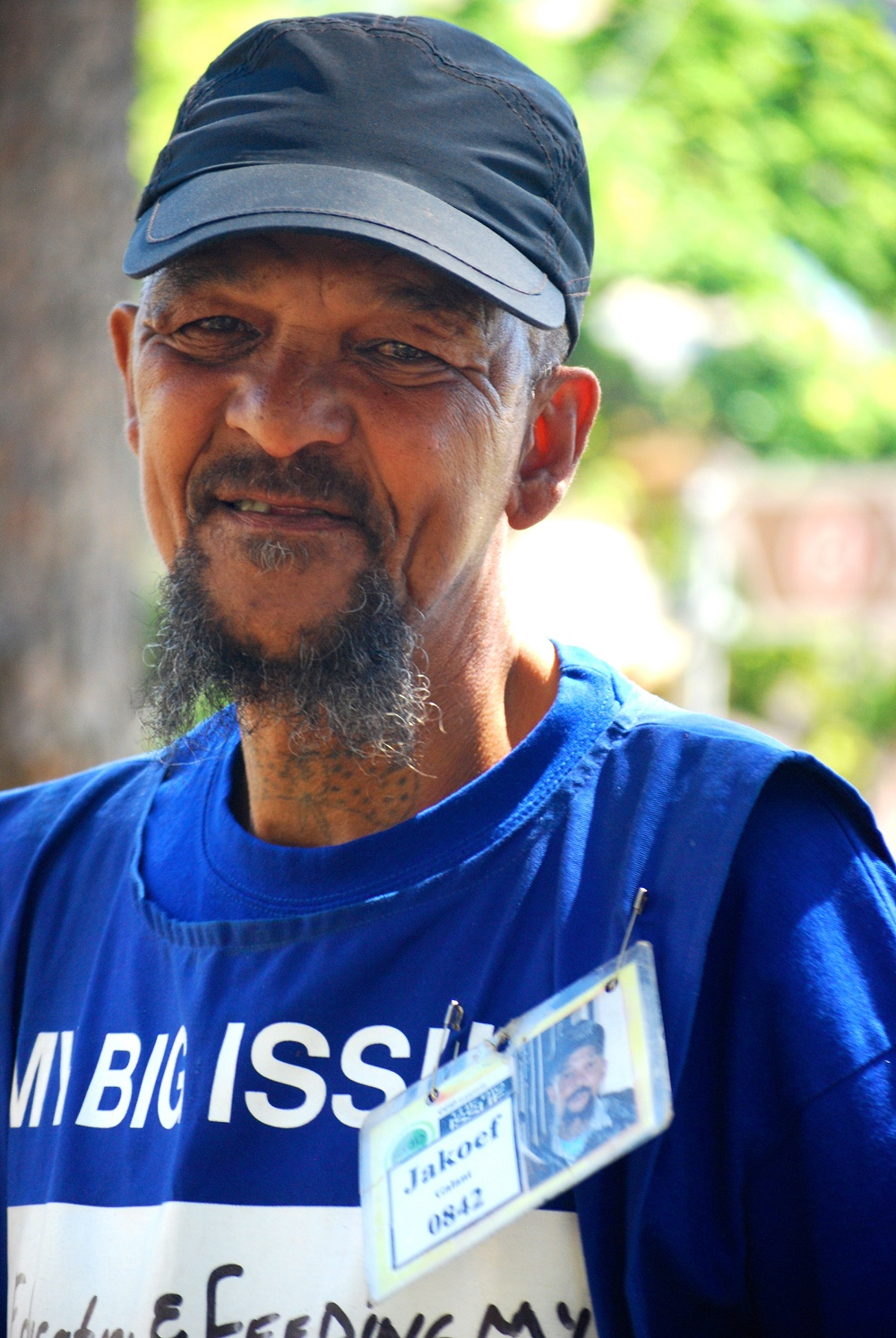 Jakoef Gallant sells the Big Issue in South Africa.