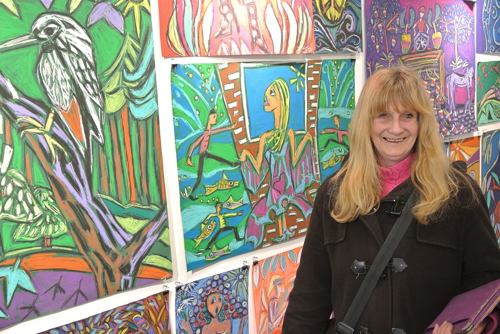 Jo with some of her art. Photo: Alison Gilchrist