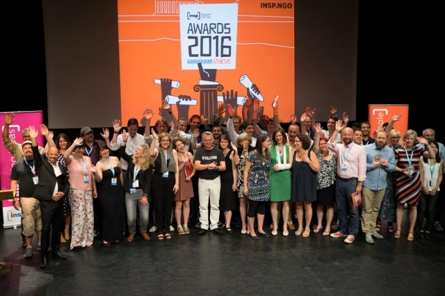 2016: The winners at the sixth INSP Awards in Athens, Greece. Photo by Panos Zoulakis.<br>