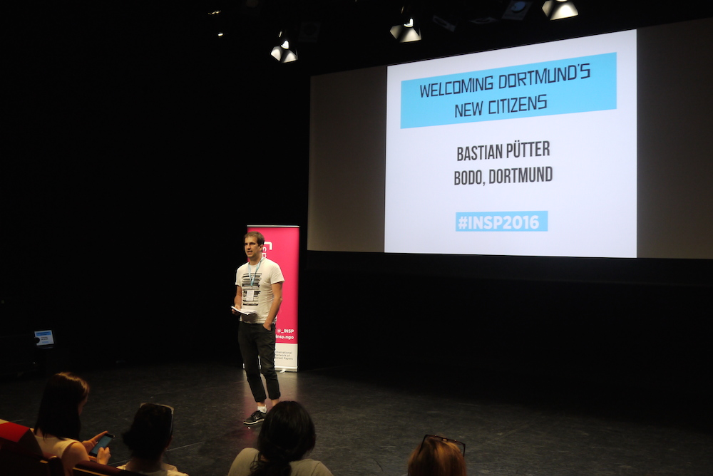 Bastian Putter from Bodo in Dortmund at INSP Talks. Photo by Alison Gilchrist