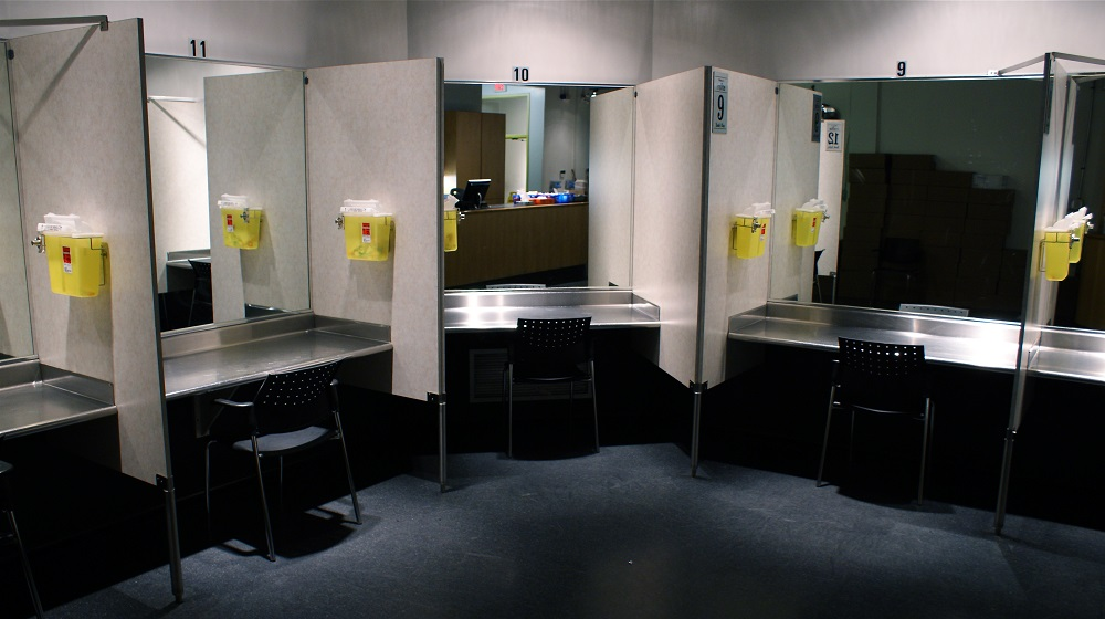 Inside Insite, a safe-injection site in Vancouver. Photo: Jay Black