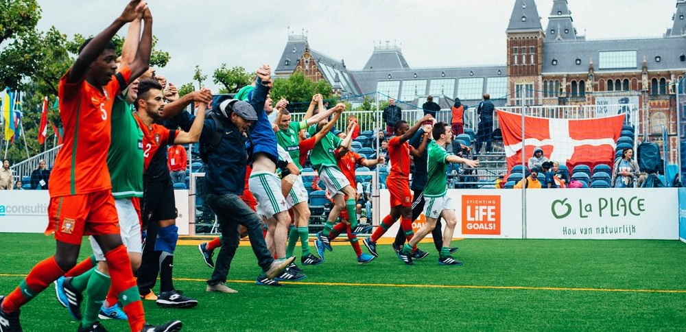 Northern Ireland's team at the Homeless World Cup in Amsterdam last year