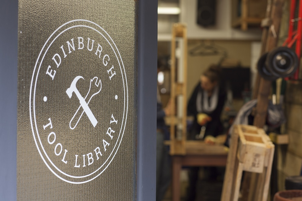 The Edinburgh Tool Library workshop is located in Spey St Lane, where volunteers are on hand to help members with advice on the right tools for the project.