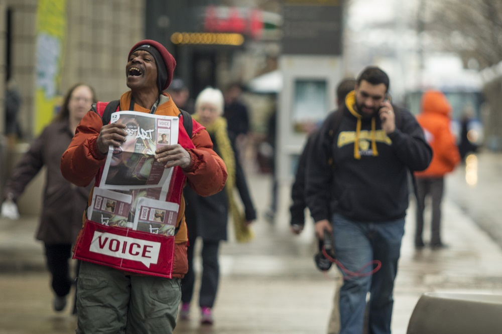 Denver Voice vendor Rodney Woolfolk. To date, the Voice has employed 4329 people.