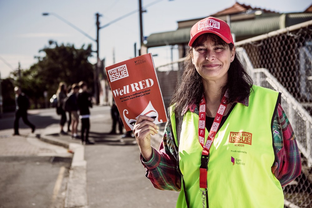 The Big Issue Australia vendor Rachel