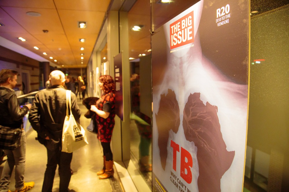The Big Issue South Africa's street paper cover highlighting the burden of the African continent's tuberculosis epidemic.