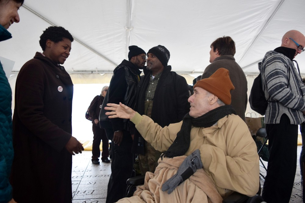 Michael Stoops at the Homeless Persons' Memorial Day in Washington D.C. December 19, 2015. Credit Alexandra Pamias