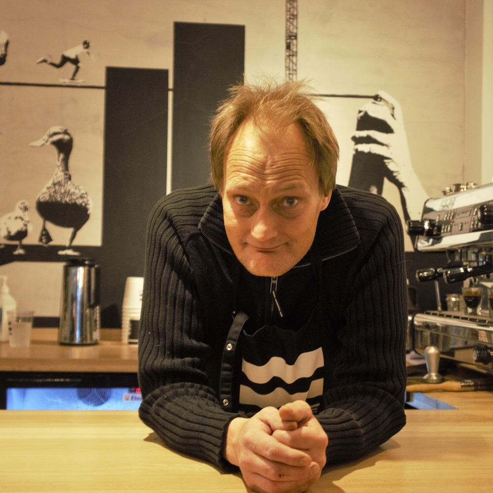 Christer working at =Kaffe. Credit: Even Skyrud