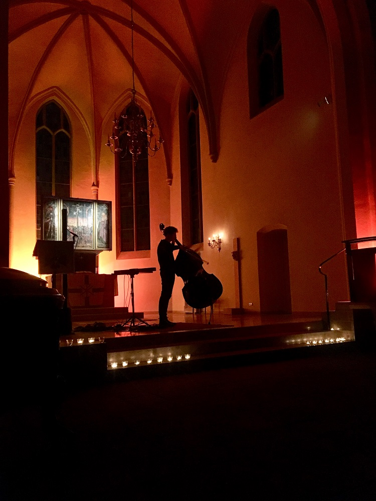 Jaspar Libuda performing at Asphalt's Friday the 13th event in April at the Kreuzkirche