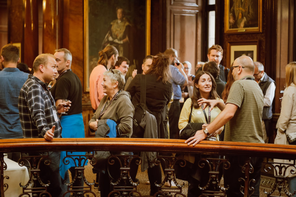 Delegates at the Glasgow City Chambers for the welcome reception. Credit: Brant Adam Photography.