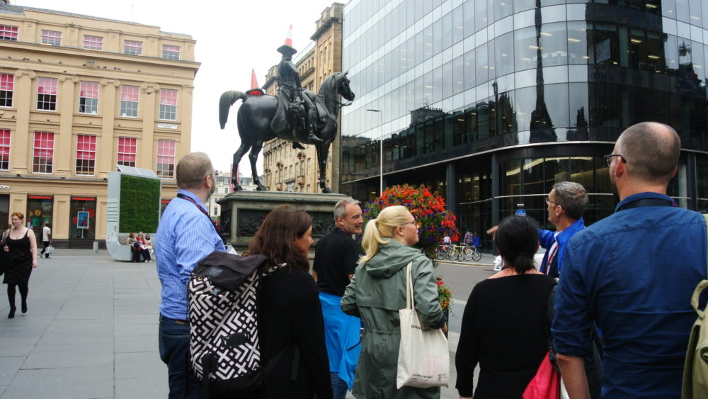 Tour guide Paul, from Invisible Cities, shows us an alternative side of Glasgow