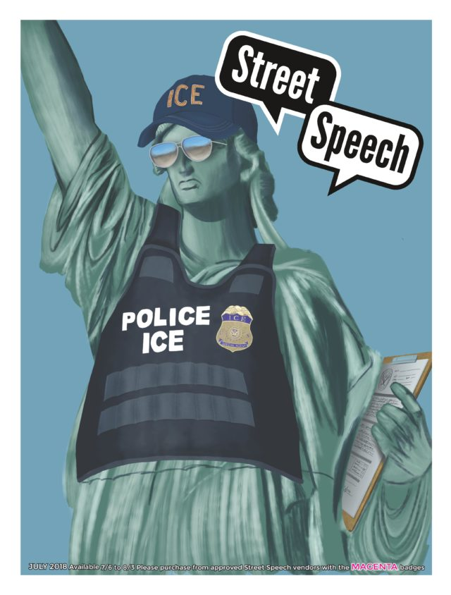 <br>Spare Change News (USA)'s article about deportation as Street Speech (USA)'s cover story