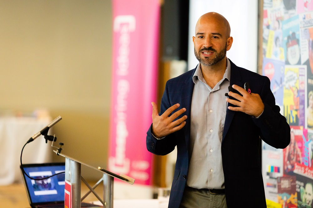 Sunny Hundal at the 2018 INSP Global Street Paper Summit. Credit: Jack Donaghy