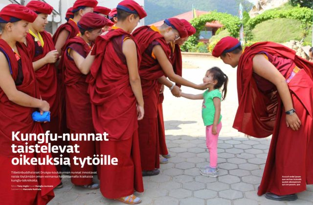 <br>INSP's Buddhist kung fu nuns feature in Iso Numero (Finland)