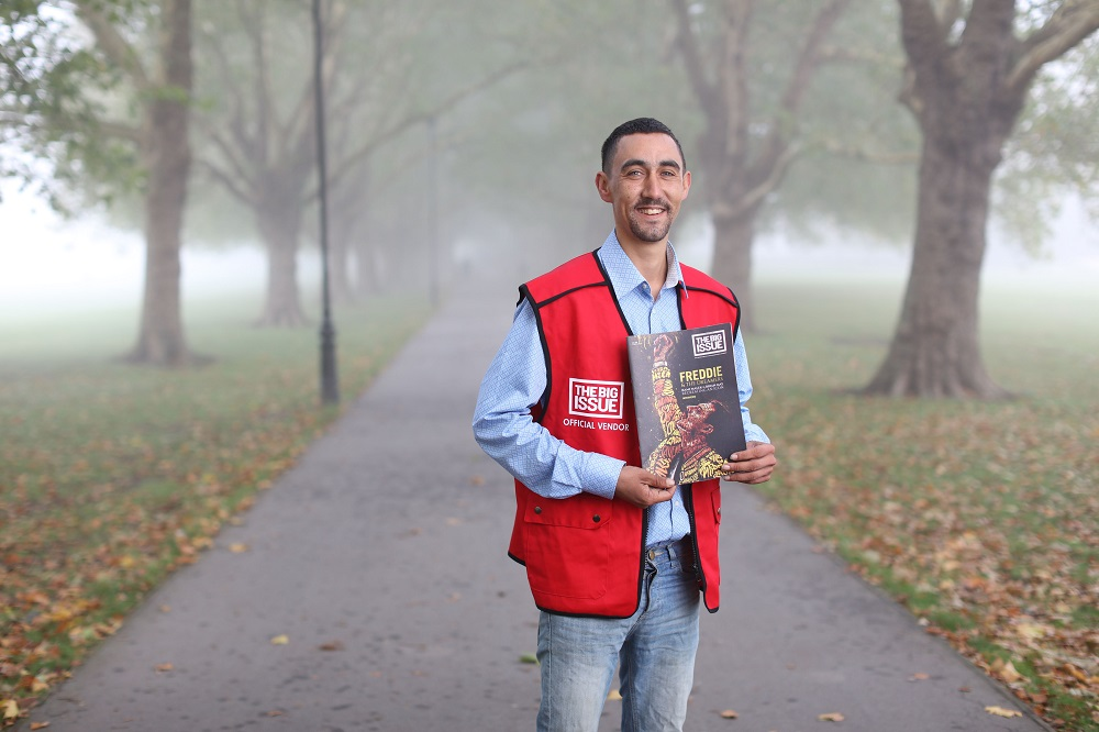 The Big Issue (UK) vendor Lee Welham (Credit: Onur Pinar)