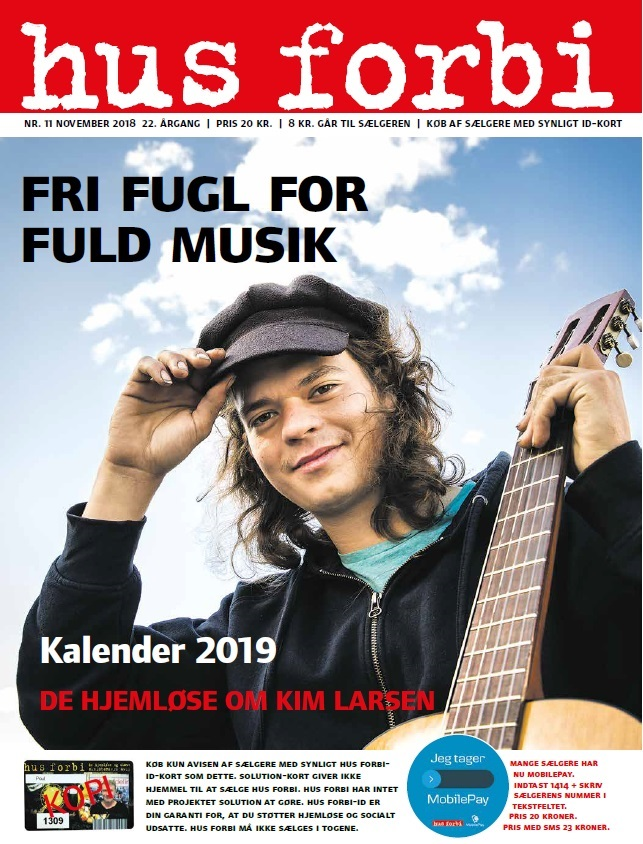 The November 2018 edition of Hus Forbi, featuring Kasper Hedegreen as its cover star