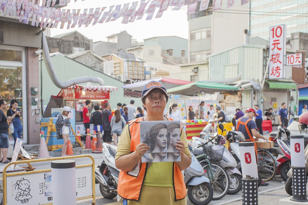 Mei-hung Sung, magazine seller on Guohua Street, Tainan (Credit: Yu-ruei Lu / The Big Issue Taiwan)